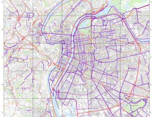 Aménagement cyclable (données Shape) sur l'agglomération Lyonnaise