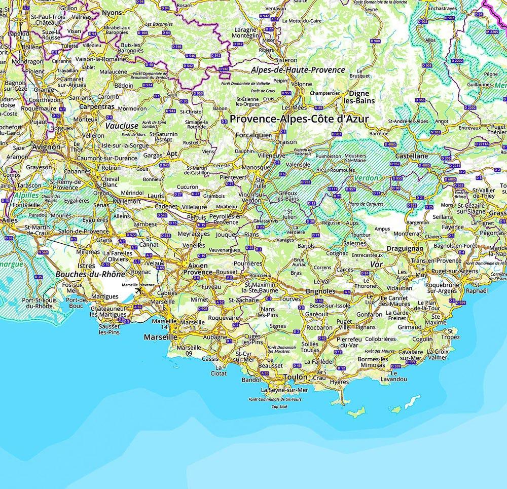 Fonds routier (niveau région) OpenStreetMap + données publiques